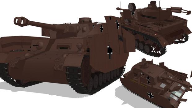 IV号戦車H型【MMDモデル配布】