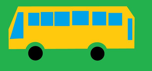 従妹(3歳)が描いたバス