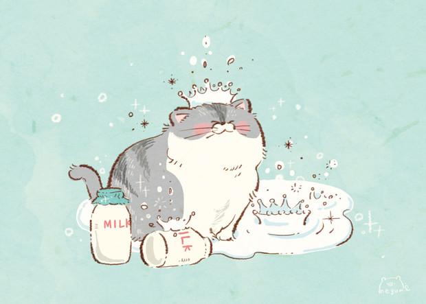ねこちゃんとミルク