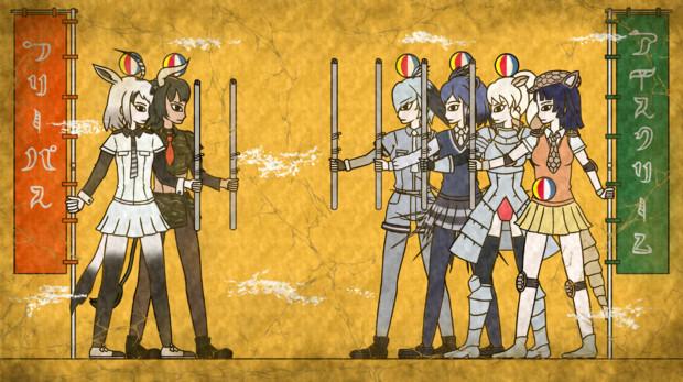 【壁画】合戦