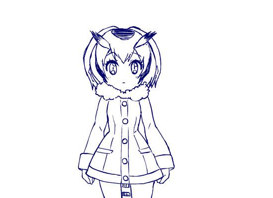 コノハ博士をシュッと細くさせるGIFアニメ