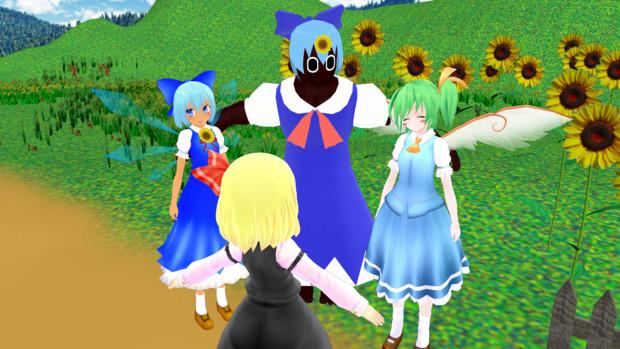 る「ここが幽香の向日葵畑だよ!」