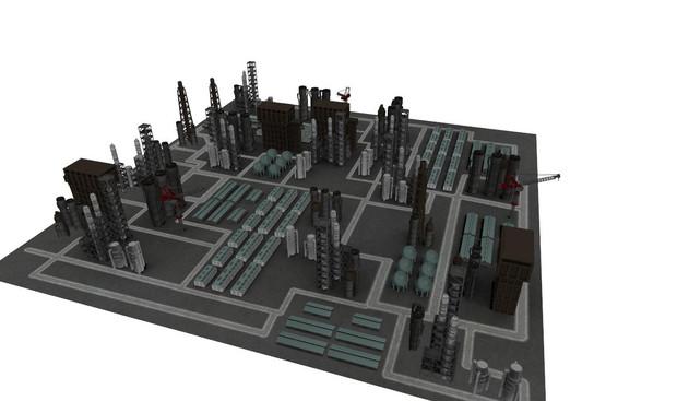 【MMD】「直是」  工業地帯【ステージ配布】