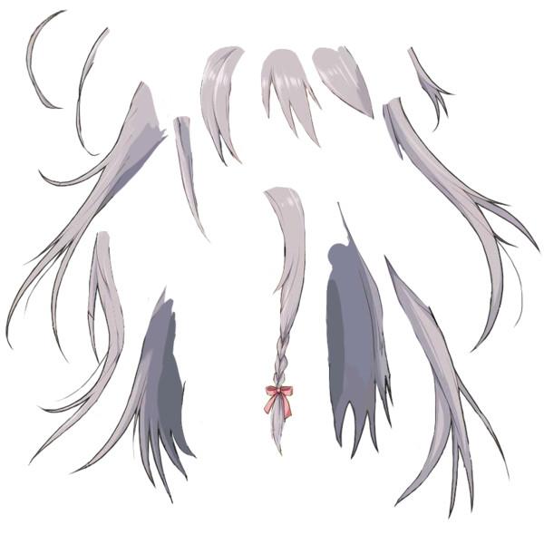 星輝子 アニメーション用素材 髪