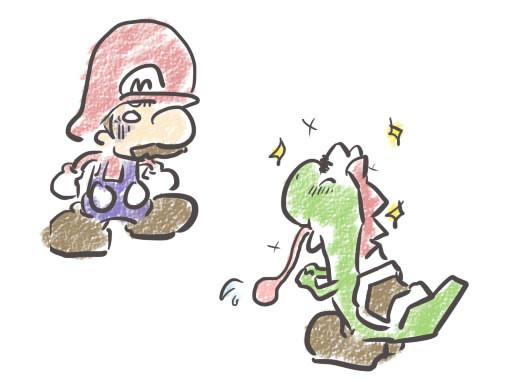 マリオにときめくヨッシー