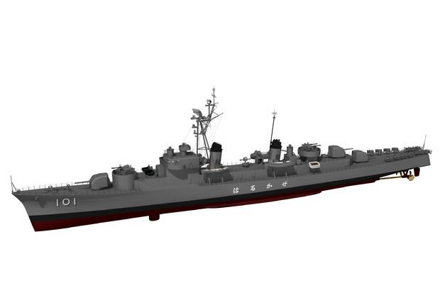 【MMD-OMF7】はるかぜ型護衛艦【モデル配布】