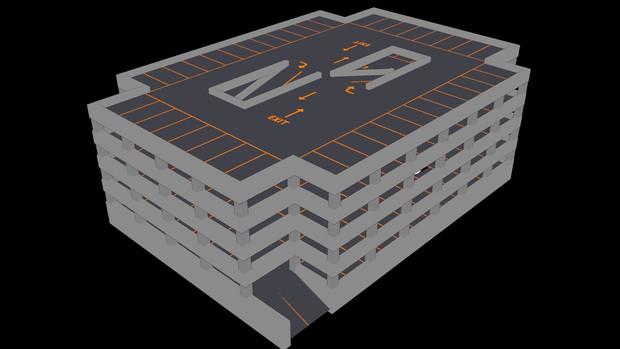 【MMD-OMF7】立体駐車場A