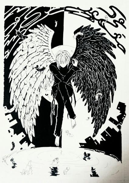 天使と悪魔 かづみん さんのイラスト ニコニコ静画 イラスト