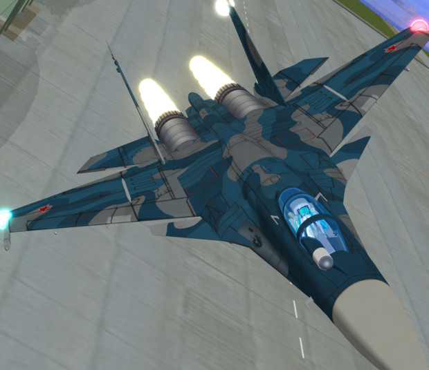 【MMD-OMF7】Su-33_Ver0.52【MMDモデル配布】