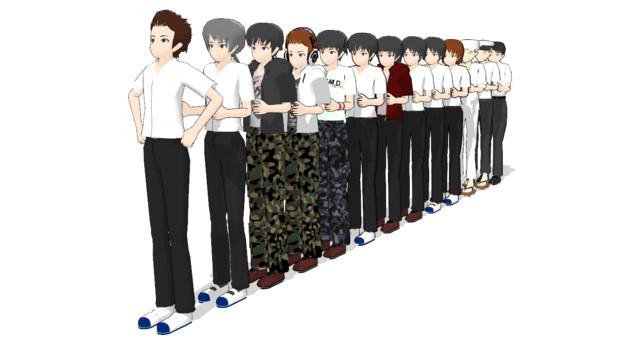 【MMD-OMF7】男子寄せ集め【モデル配布】