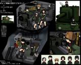 MMD-OMF7】KV2戦車_内装モデルセット