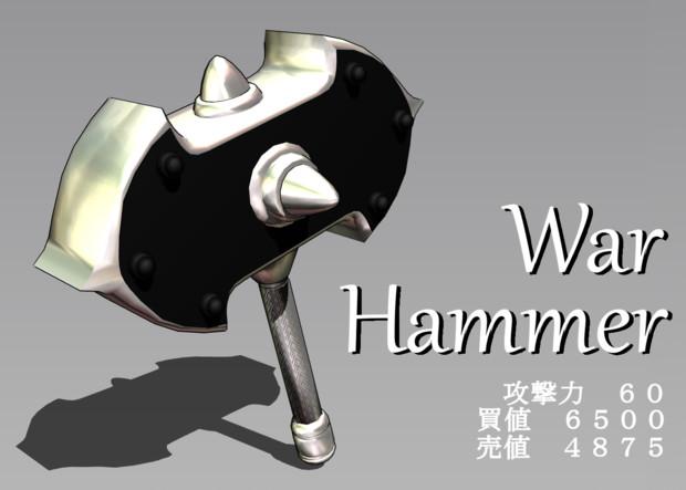 【MMD-OMF7】ウォーハンマー