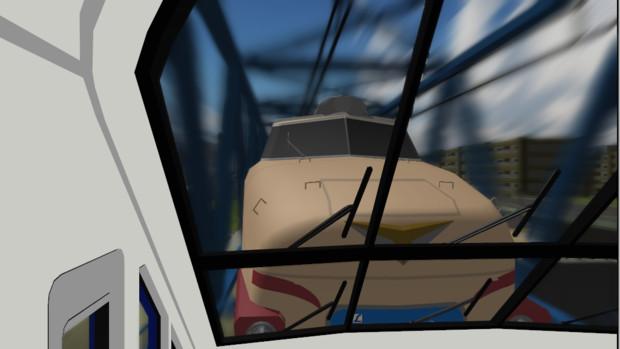 【MMD鉄道】485系雷鳥+ゆうトピア和倉・鉄橋通過中!【OMF7動画・静画の部】