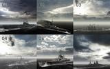 【MMD-OMF7】MMDモブ船用スカイドーム(冬の空)6種類セット