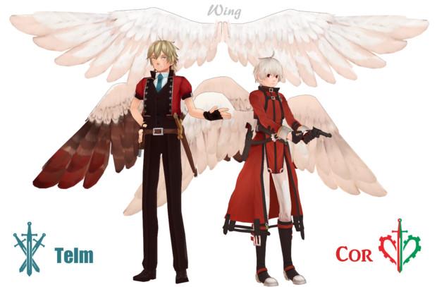 【MMD-OMF7】死と裁きの天使 と羽【モデル配布】