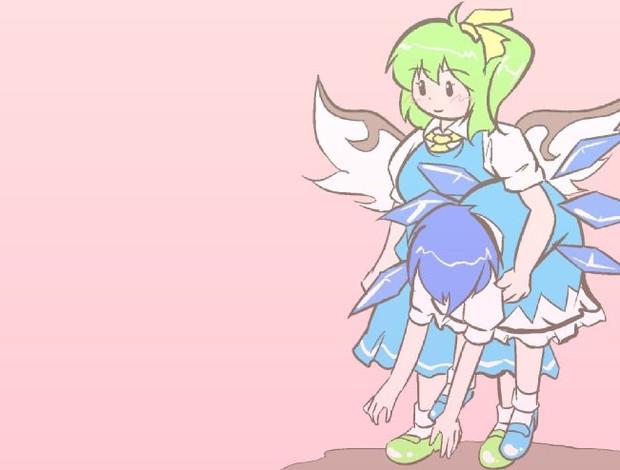 本日のチルノさん&大妖精さん(問499:文字無し版)