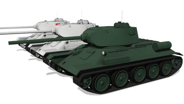 【MMD-OMF7】object式T-34/85