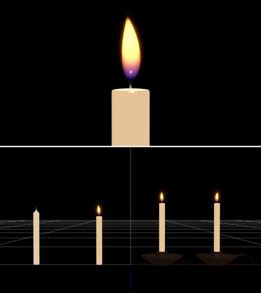 【MMD-OMF7】蝋燭v1【モデル・アクセサリ配布】