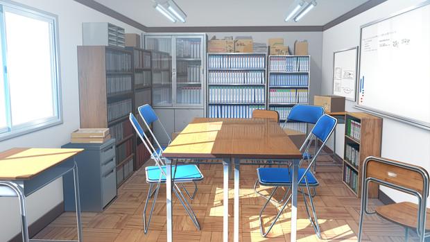 【フリー素材】 生徒会室