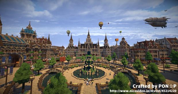 【Minecraft】噴水広場その2