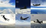 MMD用モブ航空機スカイドーム6種類セット