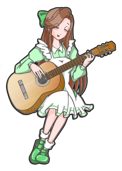 演奏アコースティックギター Lenna さんのイラスト ニコニコ静画
