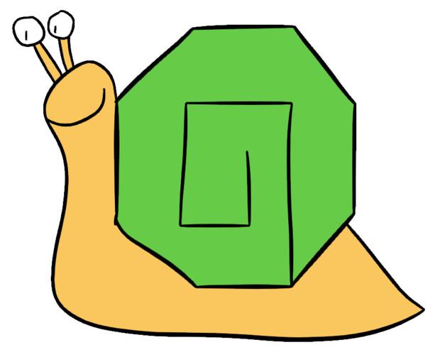 八角形のかたつむり