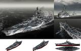 MMD用モブ改装戦艦1945(ウェストモーブニア)セット
