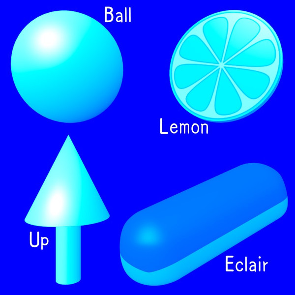 BLUE (Ball, Lemon, Up, Eclair)