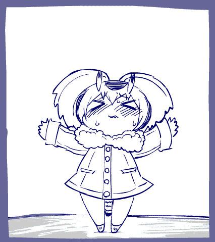 飛べなくなった手乗りコノハ博士GIFアニメ