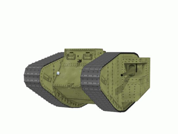 【MMD陸軍】 Mk1戦車用自動回転履帯1.0 【モデル配布】