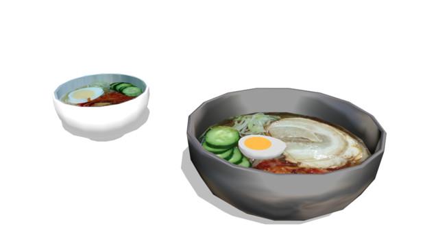 冷麺モデル【モデル配布】