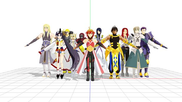 【Fate/MMD】ツイッター相互、リスト配布モデル