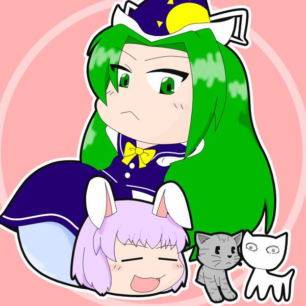 魅魔様とゆっくりうどんげと可愛い猫達