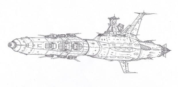 アブルフェーダ級前衛突撃武装砲艦「自作艦」