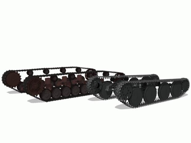 【MMD陸軍】 Ⅳ号戦車・38(t)戦車用自動回転履帯