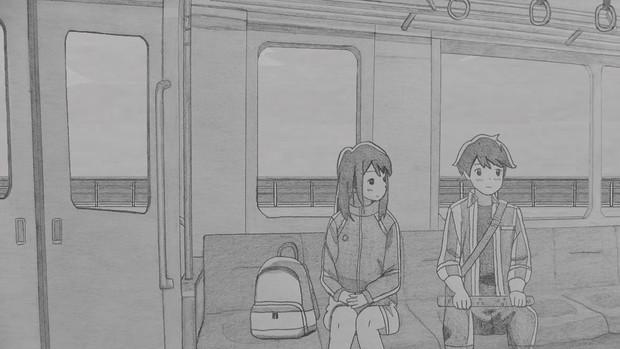 シャーペンで電車で帰ろう(月がきれい)