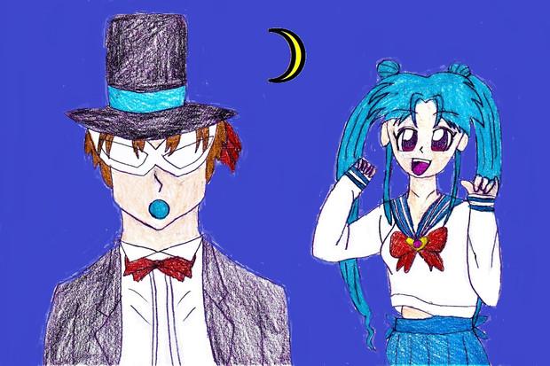 月野ぼたん&タキシードコエンマ
