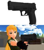 SIG P220(9mm拳銃)完成しました!【MMDモデル配布あり】