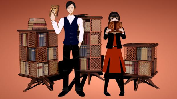 【MMD】女学生探偵と偏屈作家
