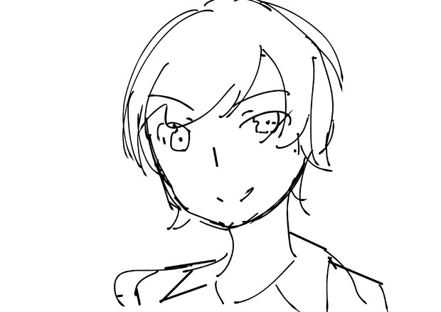 神楽坂さんのイラストを藤田茜が描いてみた