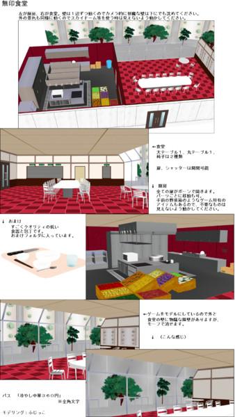 【ステージ配布】無印食堂【ダンガンロンパMMD】