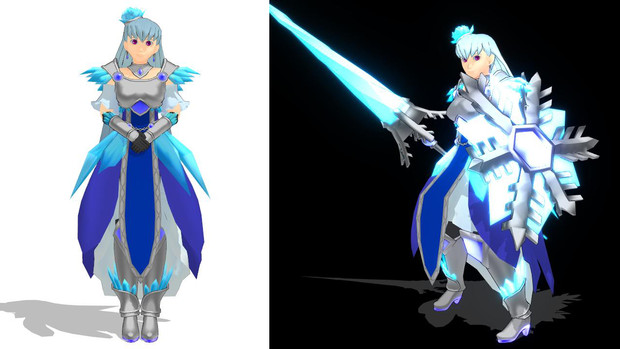 MMDモデル「氷の女騎士」