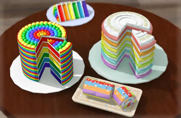 レインボーケーキ3種