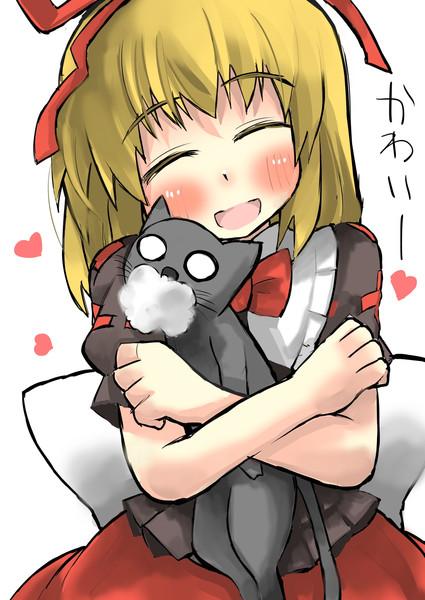 少女人形と猫