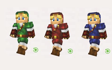 【Minecraft】時のオカリナ リンク スキン プレビュー