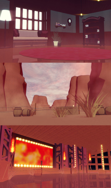 室内ステージ&荒れた土地ステージ