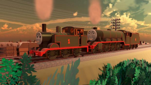 同盟を結んだ青い機関車達