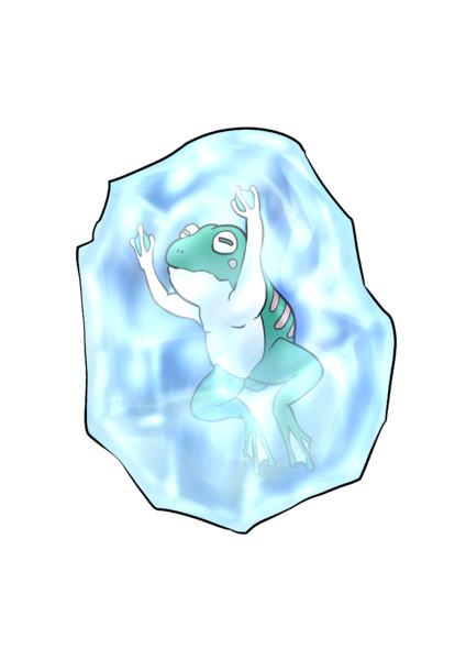 凍ったカエル(立ち絵)