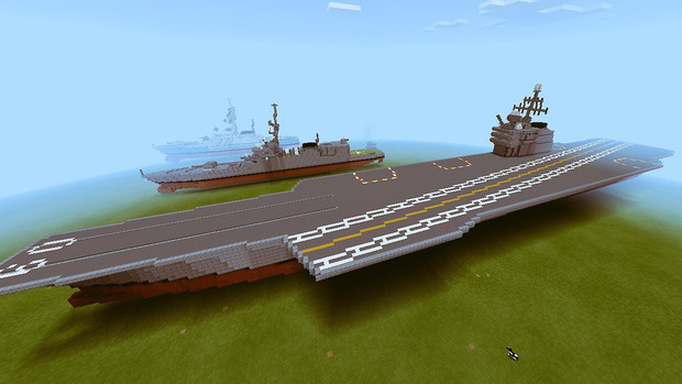 【Minecraft】通常動力空母 『サラトガ』